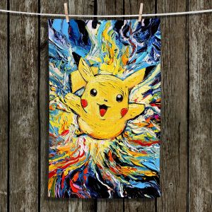 Unique Hanging Tea Towels | Aja Ann - van Gogh Pokeman | Childlike Pokemon Colorful