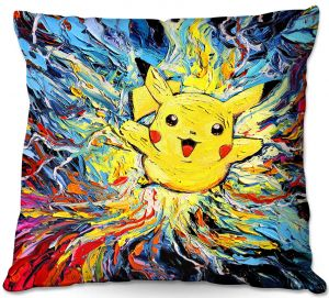 Decorative Outdoor Patio Pillow Cushion | Aja Ann - van Gogh Pokeman