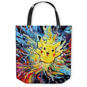 Unique Shoulder Bag Tote Bags | Aja Ann - van Gogh Pokeman