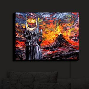 Nightlight Sconce Canvas Light | Aja Ann - Van Gogh Never Lord of Rings Eye