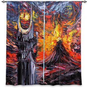 Decorative Window Treatments | Aja Ann - Van Gogh Never Lord of Rings Eye | Artistic Brush Strokes sauron mordor fellowship hobbit book