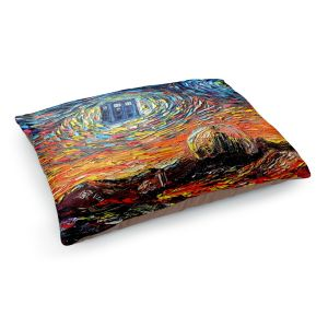 Decorative Dog Pet Beds | Aja Ann - Van Gogh Never Saw Gallifrey | Artistic Brush Strokes Doctor Who Dr. Who TARDIS pop culture television TV space time Time travel