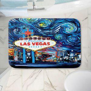 Decorative Bathroom Mats | Aja Ann - Van Gogh Never Saw Las Vegas | Artistic Brush Strokes Nevada casino gambling vegas strip