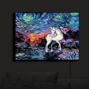 Nightlight Sconce Canvas Light | Aja Ann - Van Gogh Regret Unicorn