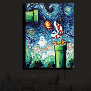 Nightlight Sconce Canvas Light | Aja Ann - Van Gogh Super Mario Bros 2