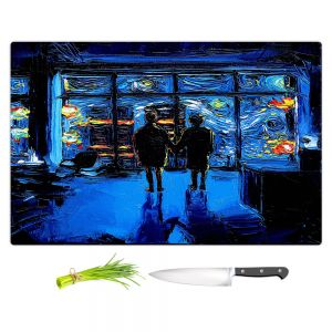 Artistic Kitchen Bar Cutting Boards   Aja Ann - Van Gogh The World Burn   Artistic Brush Strokes Fight Club movie pop culture Chuck Palahniuk