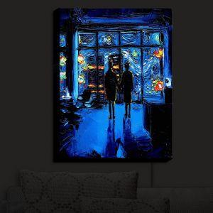 Nightlight Sconce Canvas Light | Aja Ann - Van Gogh The World Burn
