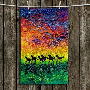 Unique Hanging Tea Towels | Aja Ann - Wild Horses