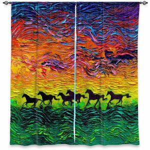 Decorative Window Treatments | Aja Ann - Wild Horses | Rainbow Mustangs