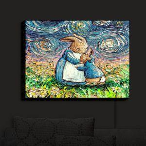 Nightlight Sconce Canvas Light | Aja Ann - With Love | Mom Baby Bunny