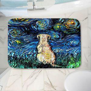Decorative Bathroom Mats | Aja Ann - Yellow Labrador | Starry Night Dog Animal