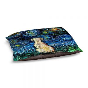 Decorative Dog Pet Beds | Aja Ann - Yellow Labrador | Starry Night Dog Animal