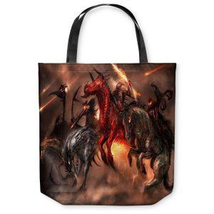 Unique Shoulder Bag Tote Bags | Alex Ruiz Four Horsemen