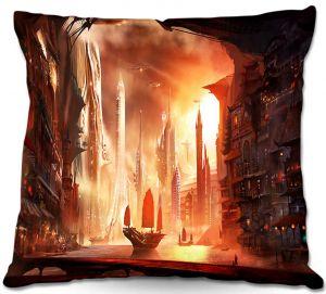 Throw Pillows Decorative Artistic | Alex Ruiz's Future Harbor
