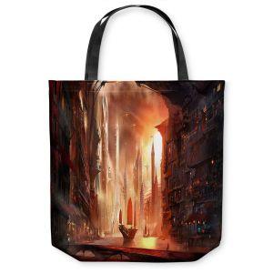 Unique Shoulder Bag Tote Bags | Alex Ruiz Future Harbor
