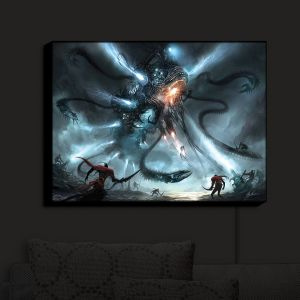 Nightlight Sconce Canvas Light   Alex Ruiz's Mech Dragon Battle