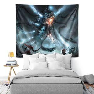 Artistic Wall Tapestry | Alex Ruiz Mech Dragon Battle