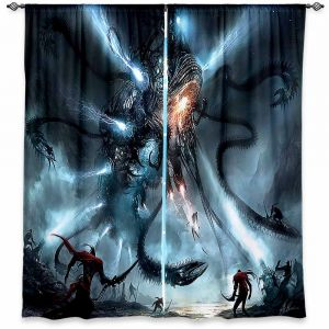 Decorative Window Treatments   Alex Ruiz Mech Dragon Battle