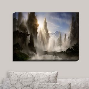 Decorative Canvas Wall Art | Alex Ruiz - Skyrim Fantasy Ruins