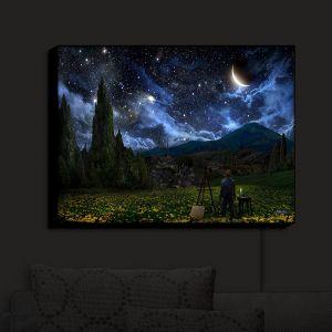 Unique Illuminated Wall Art 38 x 29 from DiaNoche Designs by Alex Ruiz - Starry Night