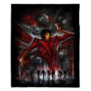 Decorative Fleece Throw Blankets | Alex Ruiz - The Thriller Michael Jackson