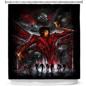 Premium Shower Curtains | Alex Ruiz The Thriller Michael Jackson