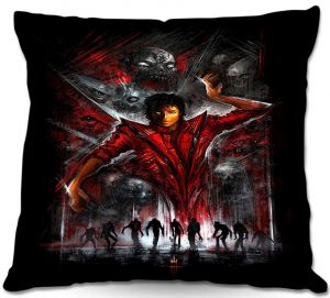 Decorative Outdoor Patio Pillow Cushion | Alex Ruiz - The Thriller Michael Jackson