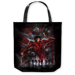 Unique Shoulder Bag Tote Bags | Alex Ruiz The Thriller Michael Jackson