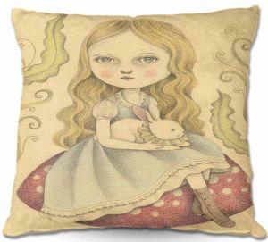 Throw Pillows Decorative Artistic   Amalia K. Alice Contemplating