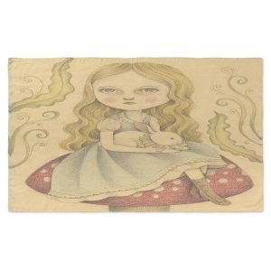 Artistic Pashmina Scarf | Amalia K. - Alice Contemplating | Girlie Make Believe Whimsical