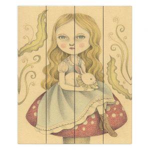 Decorative Wood Plank Wall Art | Amalia K. Alice Contemplating