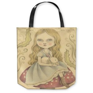 Unique Shoulder Bag Tote Bags | Amalia K. Alice Contemplating