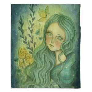Decorative Fleece Throw Blankets | Amalia K. - Butterfly Queen