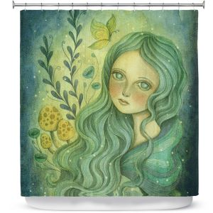 Premium Shower Curtains | Amalia K. Butterfly Queen