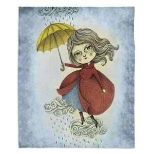 Decorative Fleece Throw Blankets | Amalia K. - Cloud Dancing