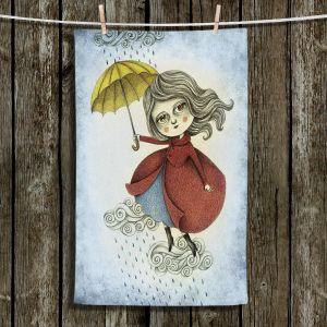 Unique Hanging Tea Towels | Amalia K. - Cloud Dancing | Girlie Make Believe Whimsical
