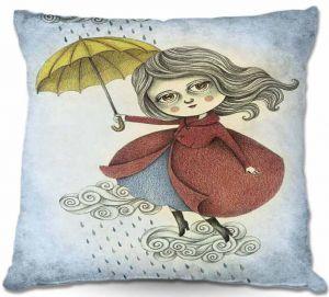 Decorative Outdoor Patio Pillow Cushion   Amalia K. - Cloud Dancing