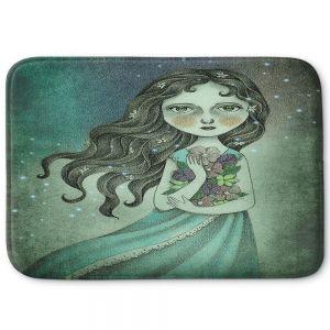 Decorative Bathroom Mats | Amalia K. - Flower the Midnight Goddess