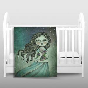 Artistic Sherpa Pile Blankets   Amalia K. Flower the Midnight Goddess