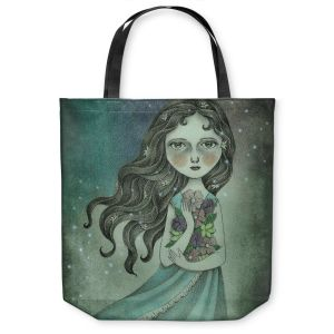 Unique Shoulder Bag Tote Bags | Amalia K. Flower the Midnight Goddess