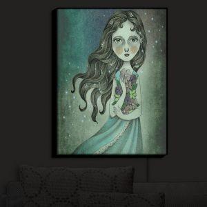 Nightlight Sconce Canvas Light | Amalia K.'s Flower Midnight