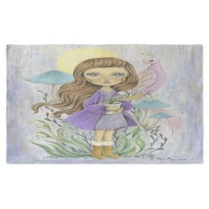 Artistic Pashmina Scarf | Amalia K. - Gift of Gold | Little Girls Birds Nature