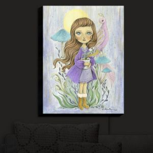 Nightlight Sconce Canvas Light | Amalia K. - Gift of Gold | Little Girls Birds Nature