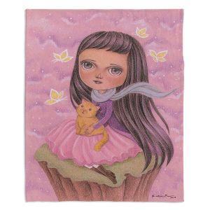Decorative Fleece Throw Blankets | Amalia K. - In A Daydram
