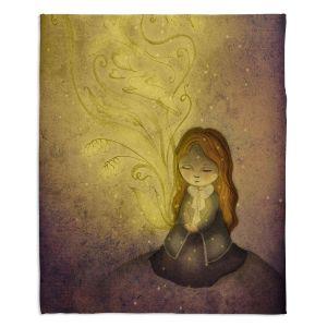 Decorative Fleece Throw Blankets | Amalia K. - Light Upon Us