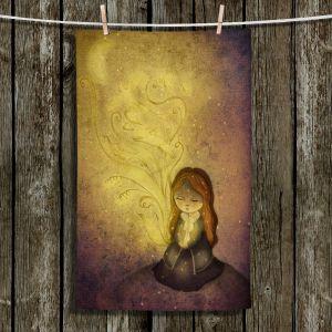 Unique Hanging Tea Towels | Amalia K. - Light Upon Us | Girl Moon
