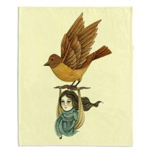 Artistic Sherpa Pile Blankets | Amalia K. Midnight Travel