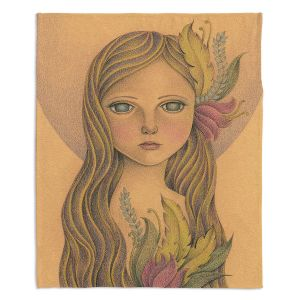 Decorative Fleece Throw Blankets | Amalia K. - The Gold In her Hair