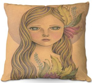 Throw Pillows Decorative Artistic | Amalia K. - The Gold In her Hair