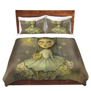 Artistic Duvet Covers and Shams Bedding | Amalia K. - With the Stars Above